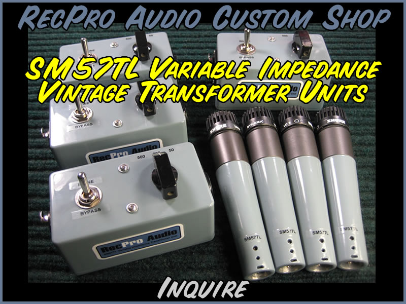 RecPRo Audio Shure SM5 TL Variable Impedance Vintage Transformer Units