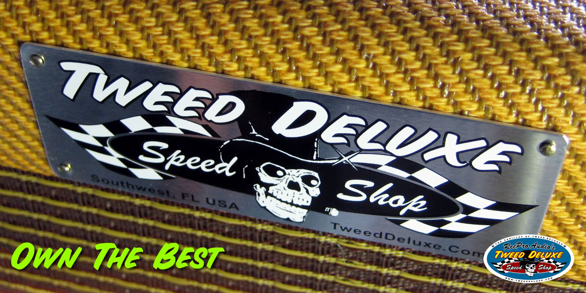 Tweed Deluxe Speed Shop Name Plate