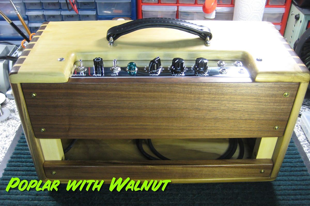 5E3 Head Cabinet Walnut and Poplar Rear