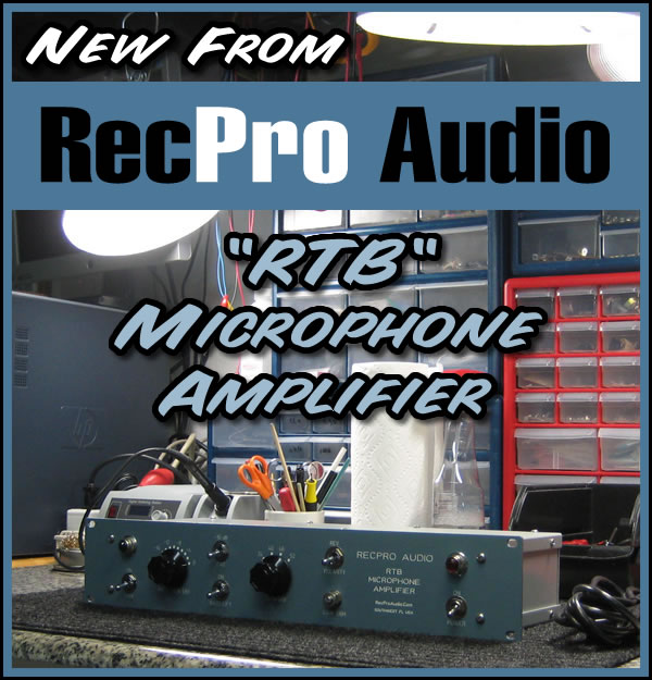 RecPro Audio RTB Microphone Preamp